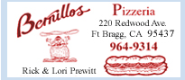 Bernillos Pizza in Fort Bragg